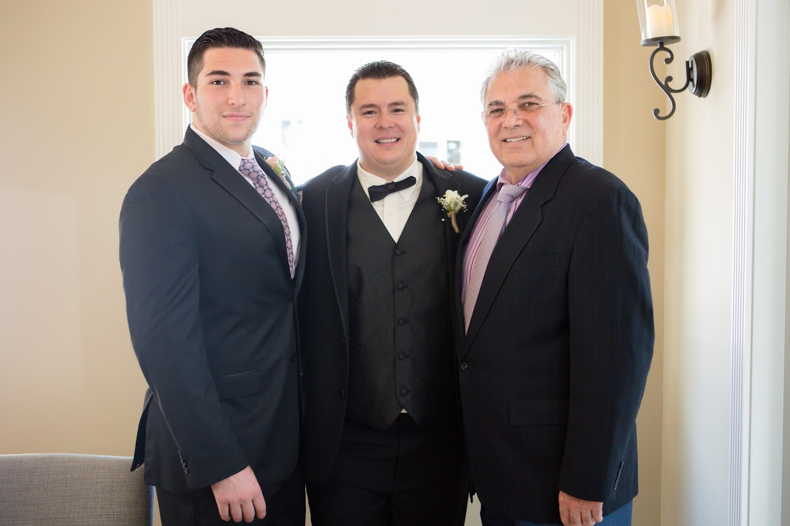 Groom brother and dad