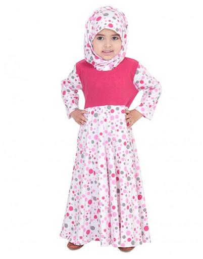 Model Baju Muslim Anak Perempuan Motif Bunga Terbaru 2017/2018