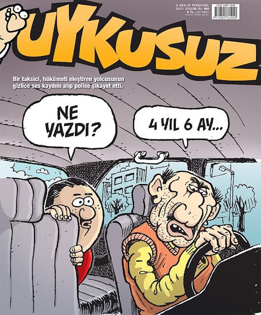 Uykusuz Dergisi | 8 Aralık 2016 Kapak Karikatürü