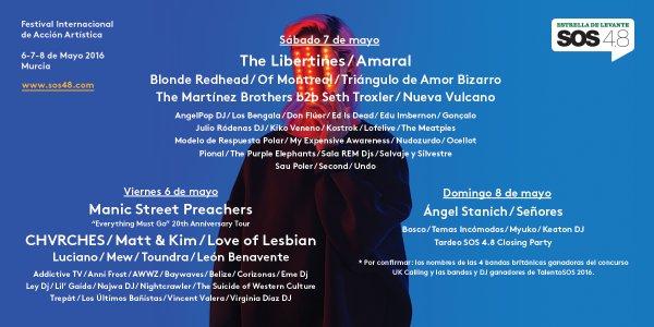 Sos, 4.8, 2016, Festival, Murcia, Música, cartel