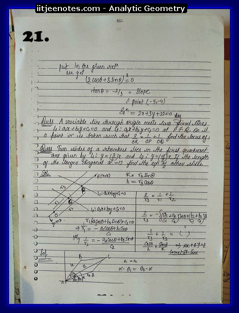 analytic geometry notes9