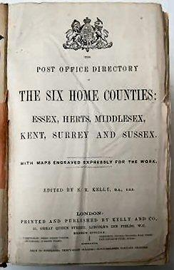 Scan of The Post Office directory of the six home counties, including Hertfordshire, edited by E. R. Kelly Published by Kelly and Co., 51, Great Queen Street, Lincoln's Inn Fields, W.C., London, 1878 Image courtesy of Abe Books