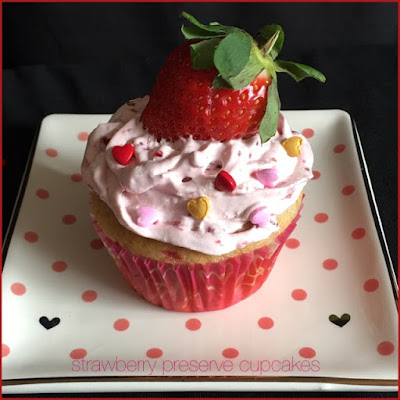 Strawberry Preserve Cup Cakes