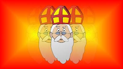 Rood gele Sinterklaas wallpaper