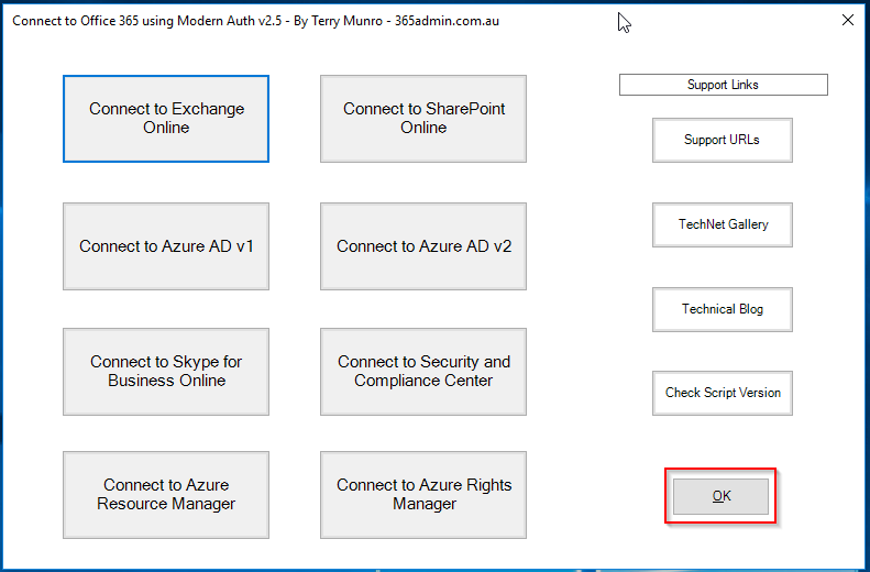 365 Admin: How to connect to Office 365 via PowerShell with Modern