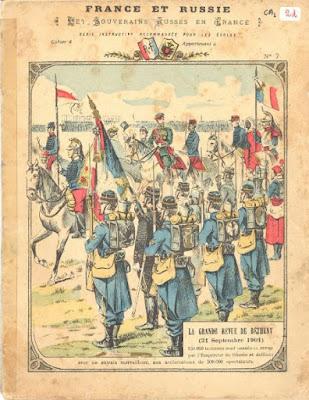 Protège-cahier, série instructive « France-Russie », vers 1900 (collection musée)