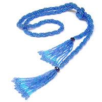 купить украшения из бисера, лариат, длинное ожерелье из бисера Украина