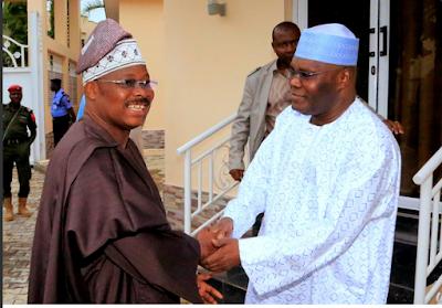 Governor Of Oyo State Abiola Ajimobi Visits Atiku Abubakar In His Abuja Residence.