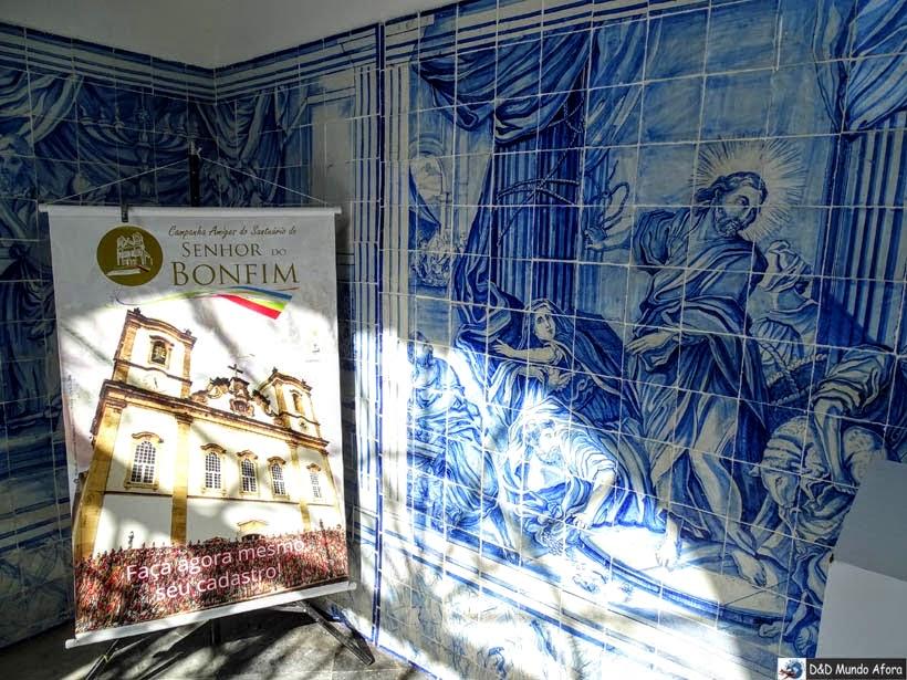 O que fazer em Salvador (Bahia) - Igreja do Bonfim - azulejos portugueses