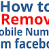 How to Delete Number Off Facebook