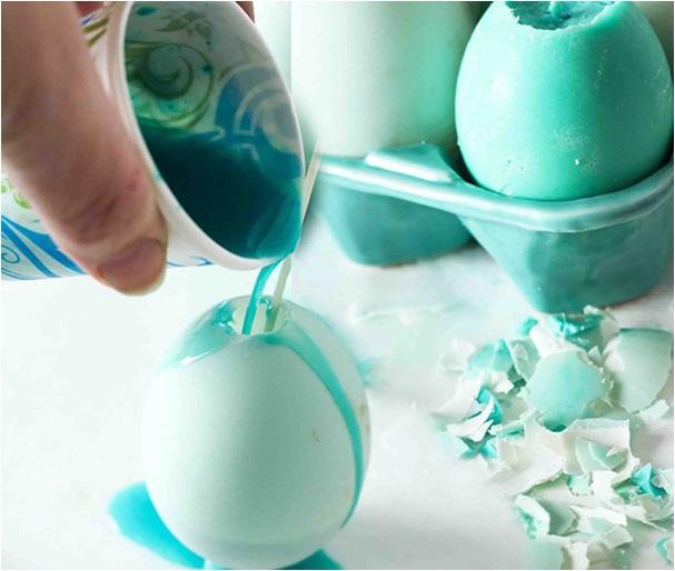 el yapımı yumurta mum