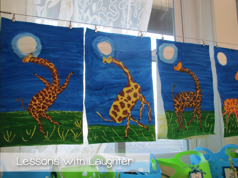 Giraffes Cant Dance Art Project Lessons With Laughter
