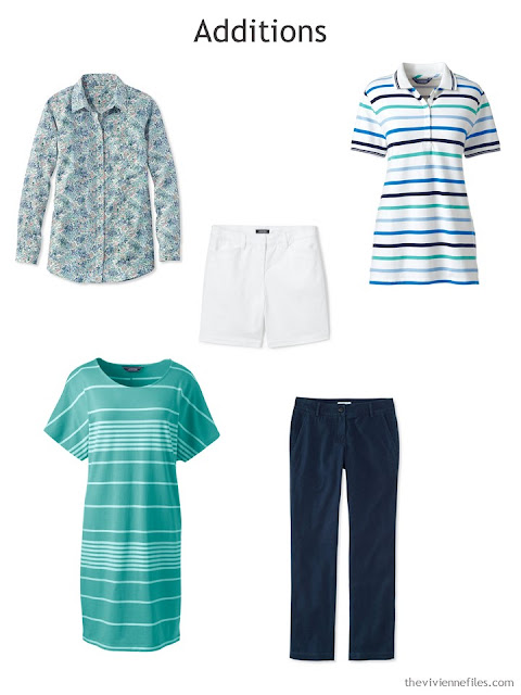 Spring Wardrobe additions in blue, green and white