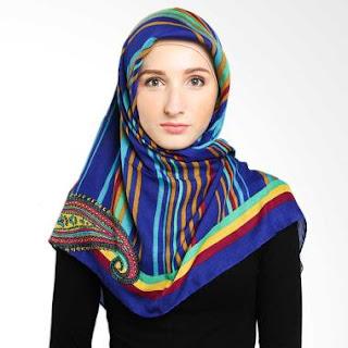 Jilbab Elzatta Warna Biru