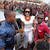 Photo of the day: Tonto Dikeh mobbed by fans