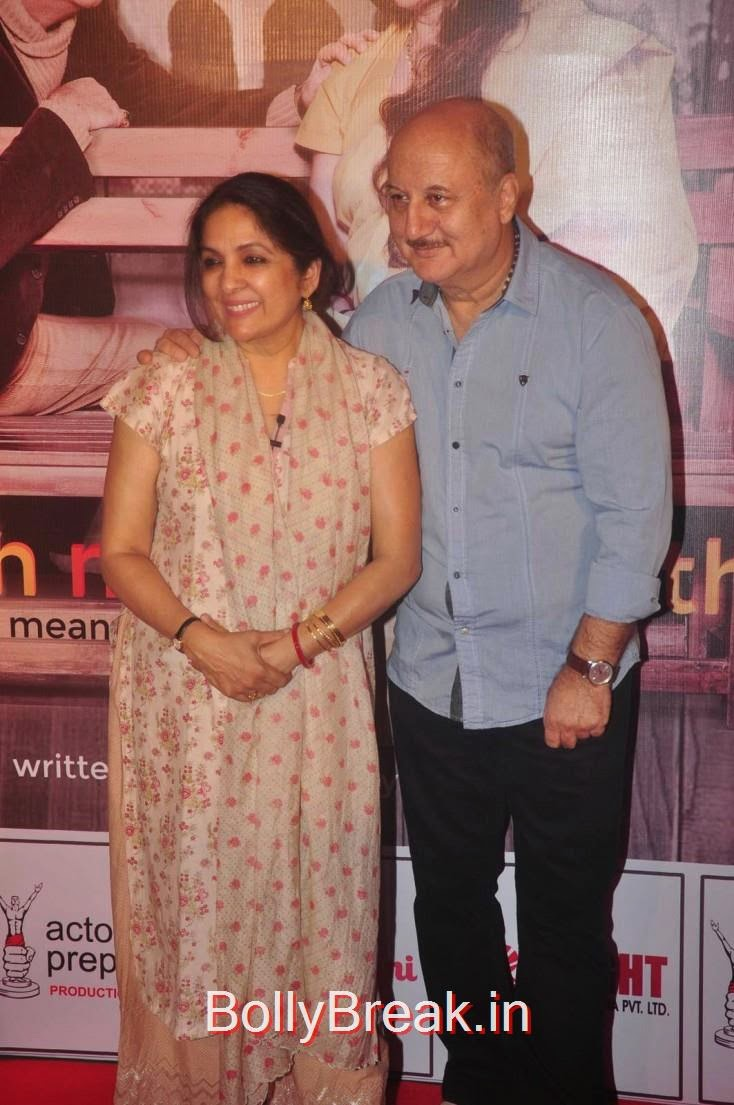 Neena Gupta and Anupam Kher, Elli Avram, Esha Gupta Hot Pics At Opening for Anupam Kher Neena Gupta Play