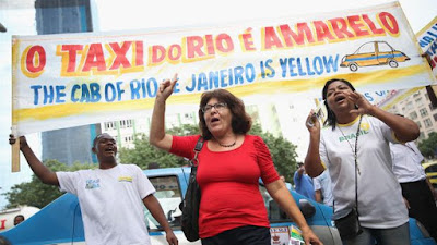 Also Uber chaotic protests occurred in Brazil