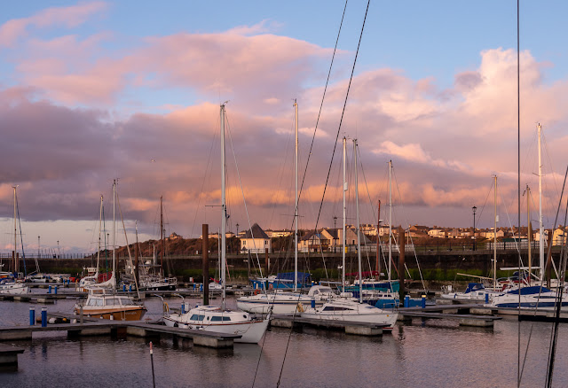 Photo of the following day's sunset over the marina