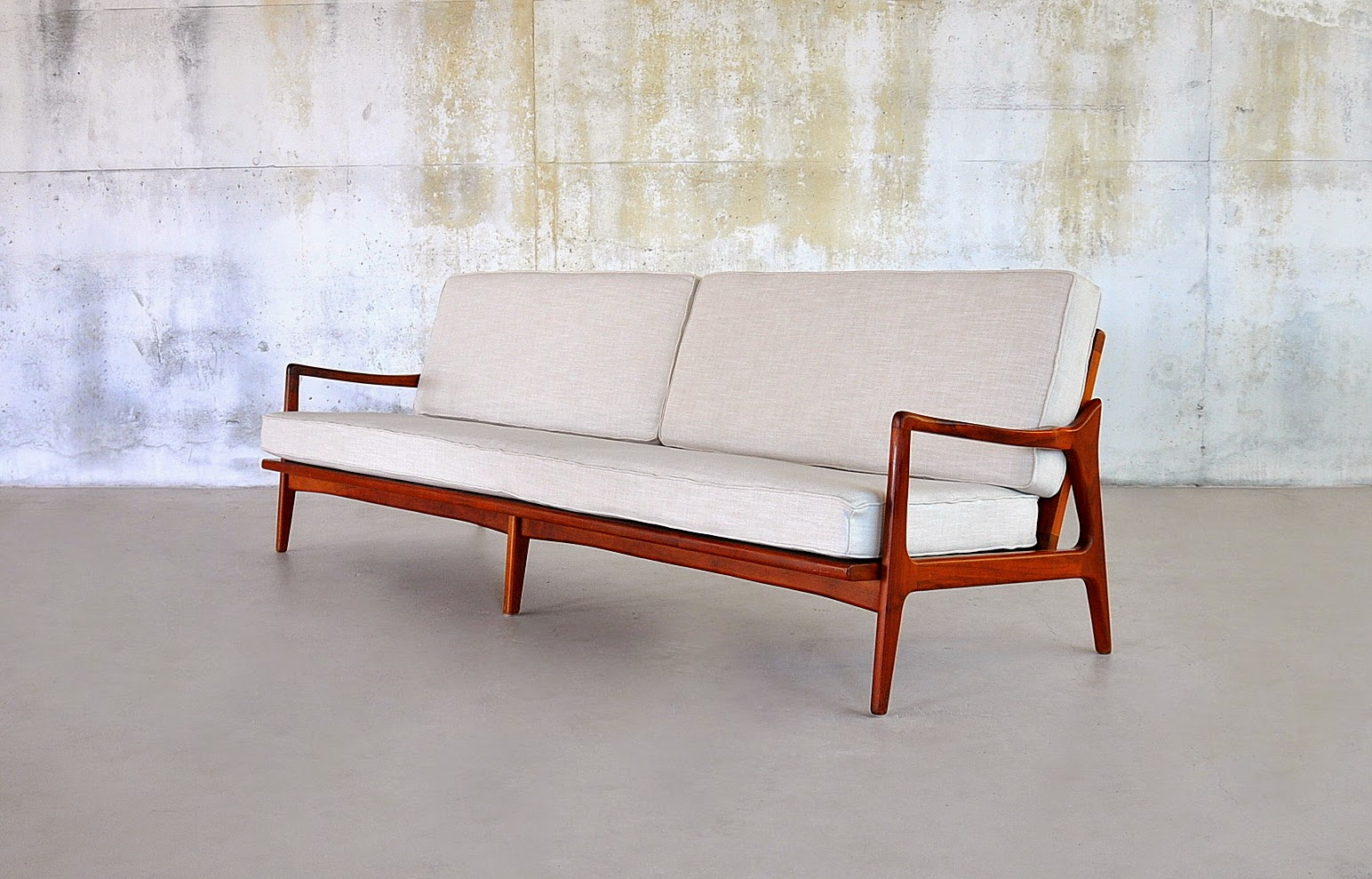 Select Modern Danish Modern Teak 4 Seater Sofa