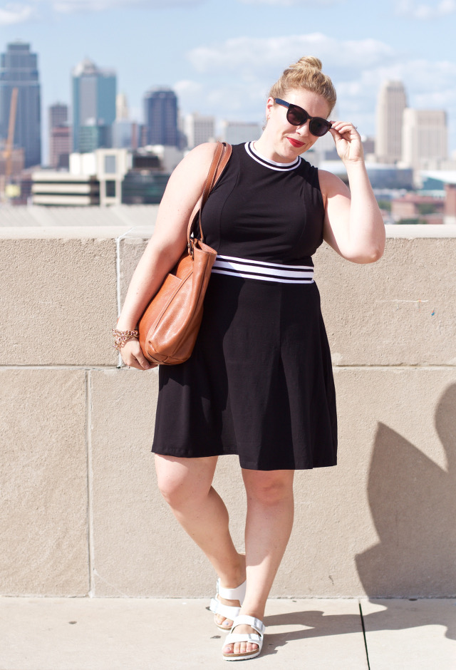 Athletic inspired dress for casual outfit wear