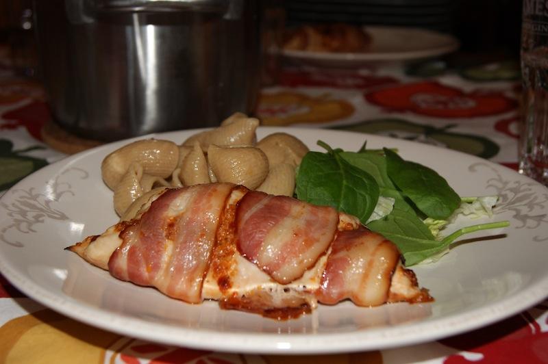 kyllingfilet i ovn med bacon