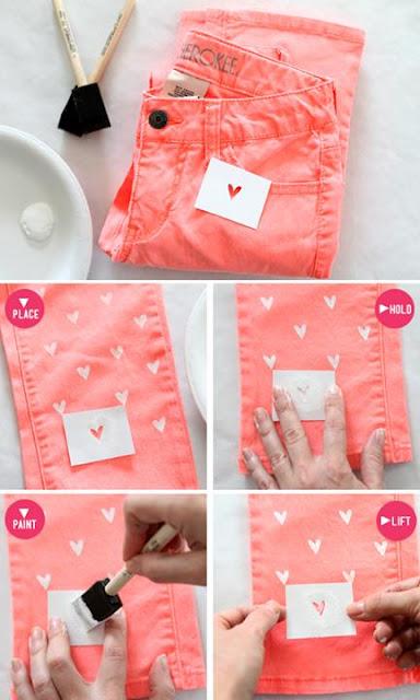 DIY : Renueva tus viejos jeans con corazoncitos