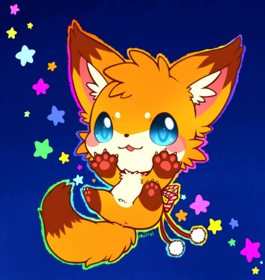 Cute Anime Baby Fox | Lockindo