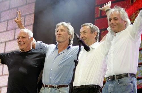 Pink Floyd Live 8 group hug