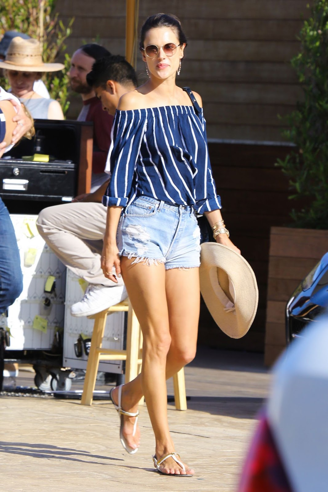 Alessandra Ambrosio Leaves Soho House in Malibu