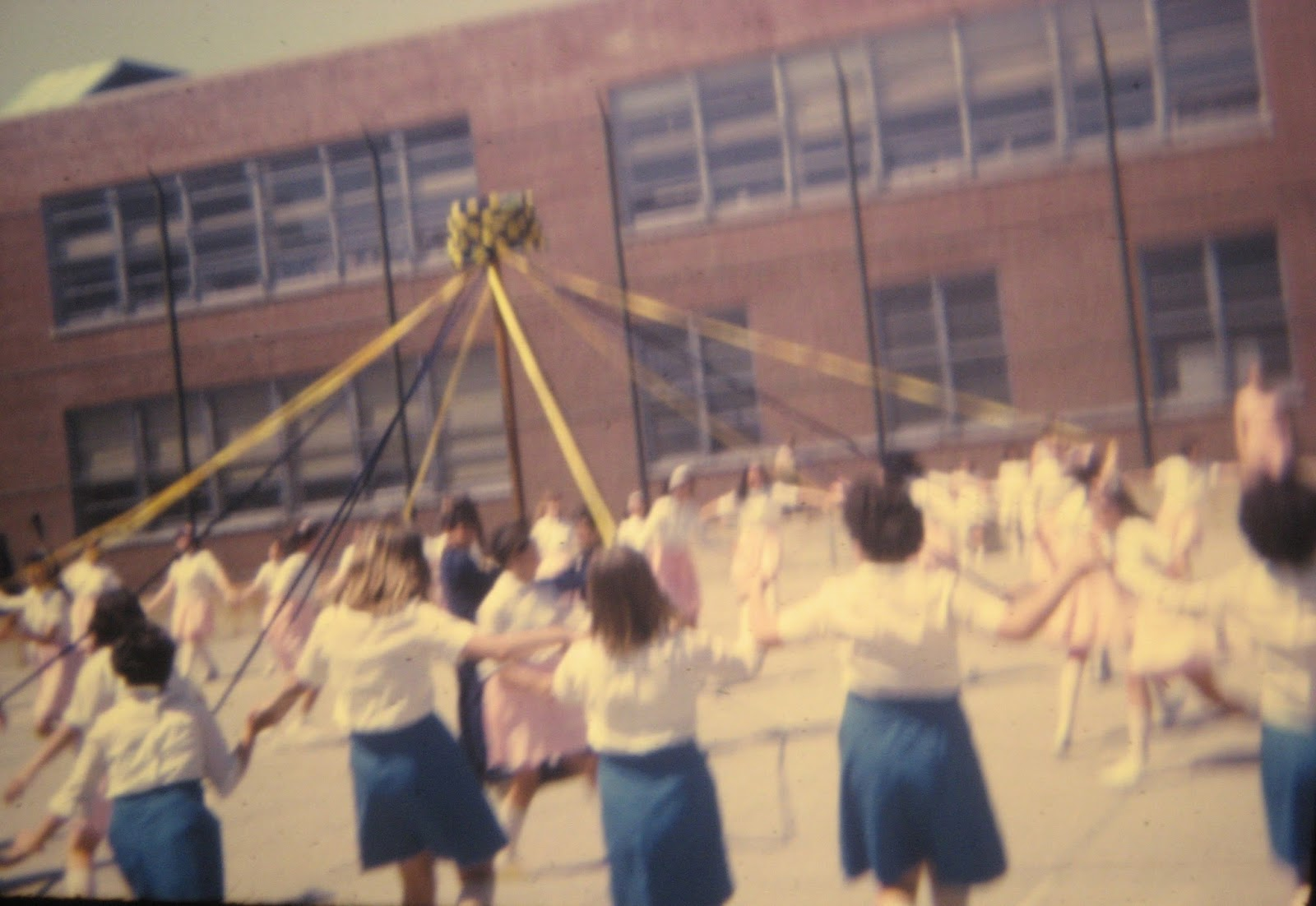 PS22 school May Pole dance Staten Island, New York June 1968