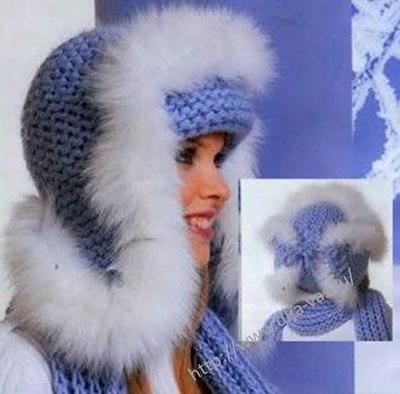 Женская шапочка с ушками.