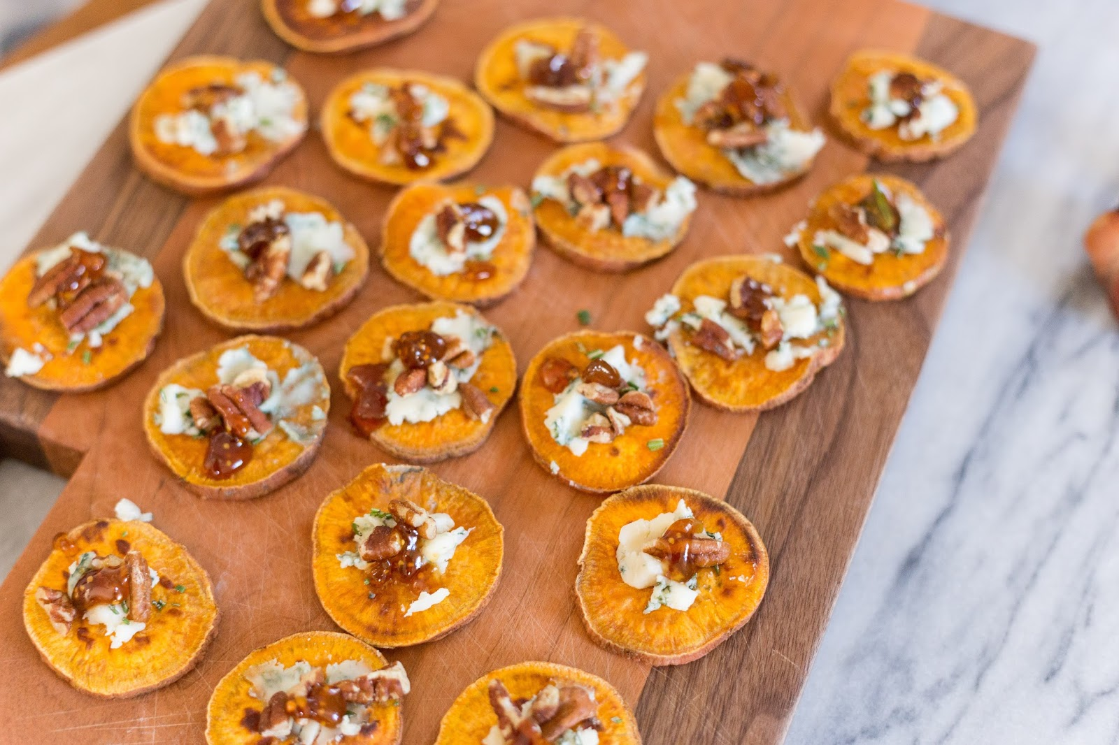 Love this recipe for Sweet Potato Crostinis!