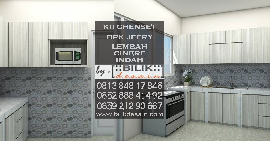 Kitchen Set Corak Kayu Yang Soft Milik Bapak Jefry Di Lembah