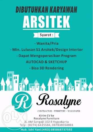 Lowongan Kerja Pt Rosalyne Contractor Karir Arsitek