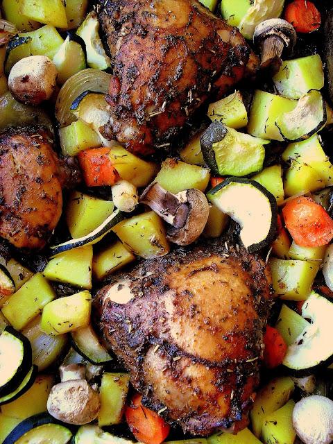 Pieczony kurczak w ziołach prowansalskich