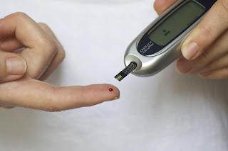 Diabetes,  dedo, teste, sangue
