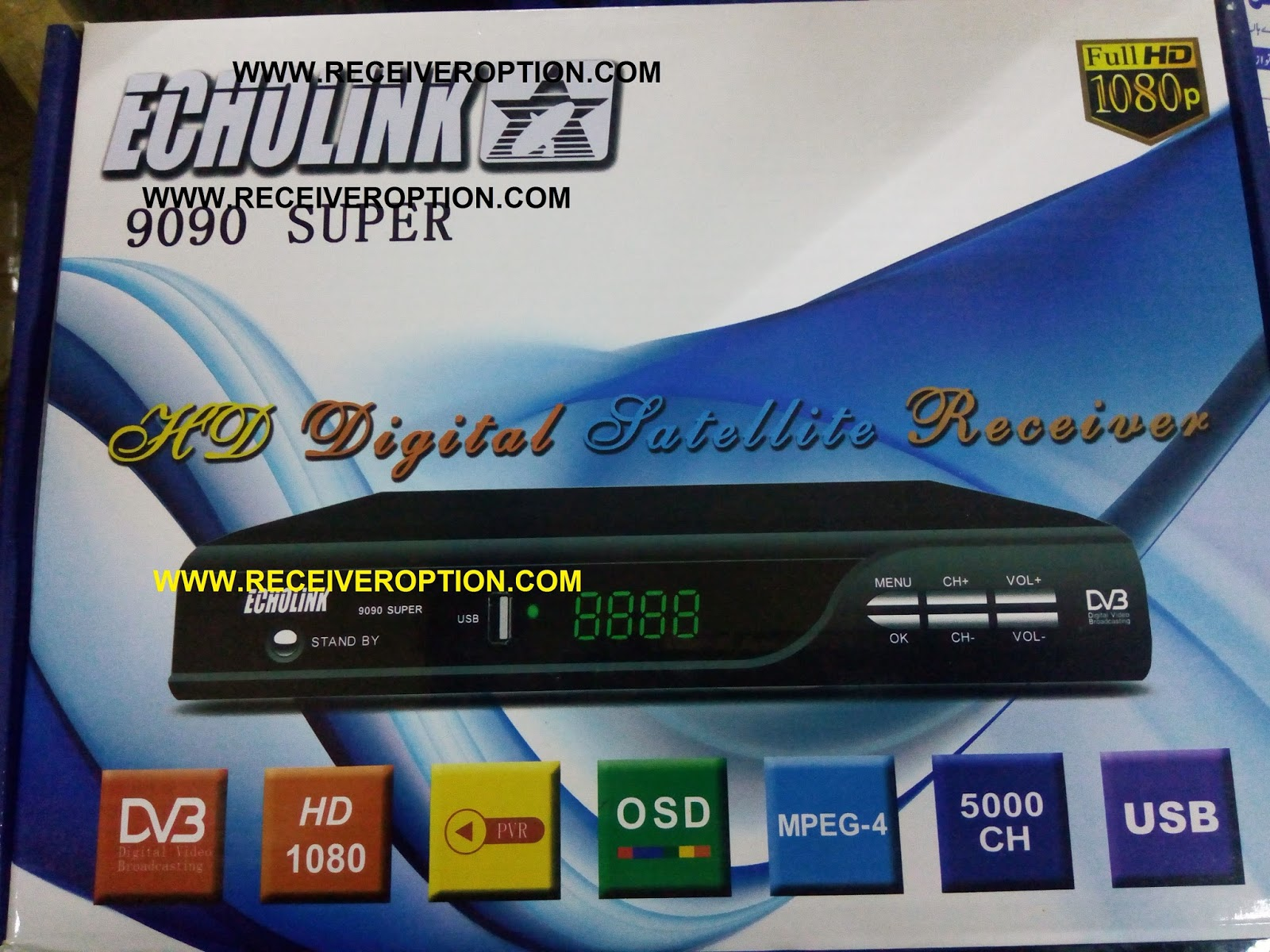ECHOLINK 9090 SUPER HD RECEIVER AUTO ROLL POWERVU KEY SOFTWARE - HOW