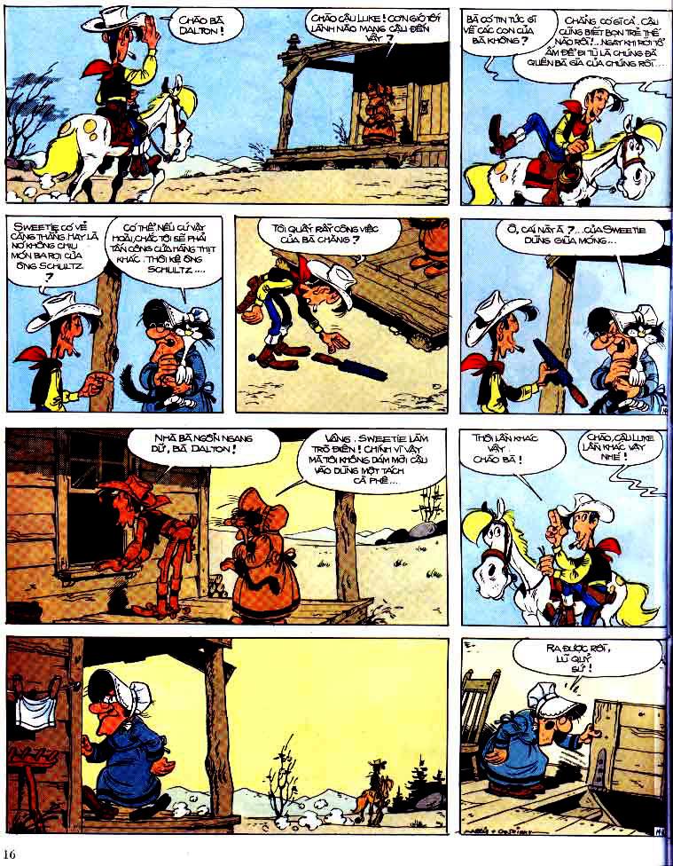 Lucky Luke tap 15 - ma dalton trang 17