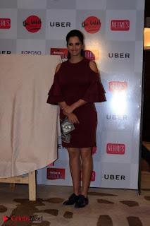 Indian Tennis Star Sania Mirza Pos in Red Short Dress at  0022.jpg