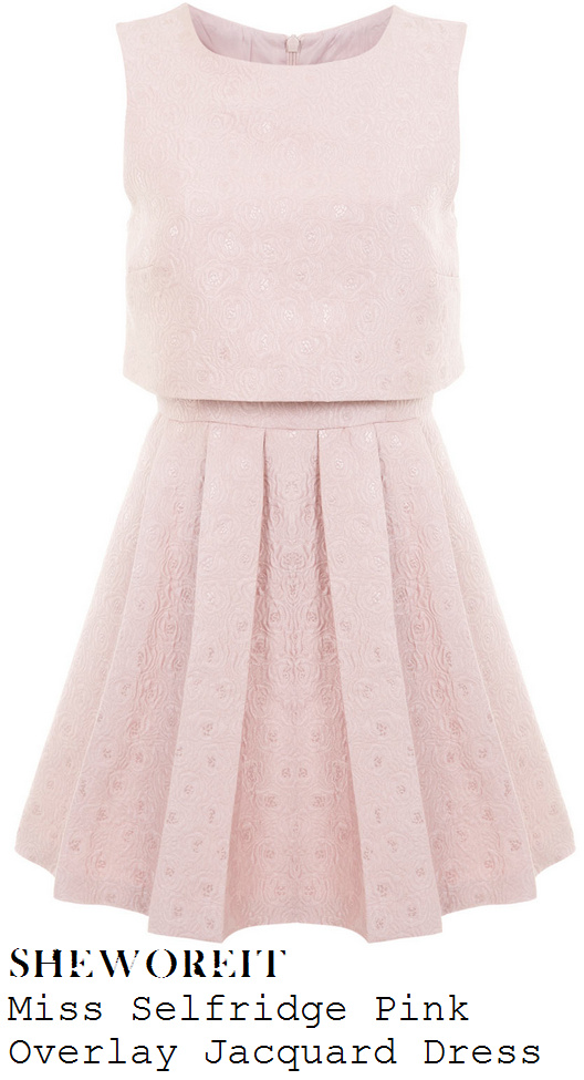 stephanie-waring-rose-pink-floral-jacquard-sleeveless-pleated-overlay-dress