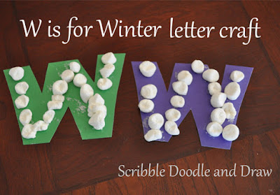 Alphabet letter craft w is for winter
