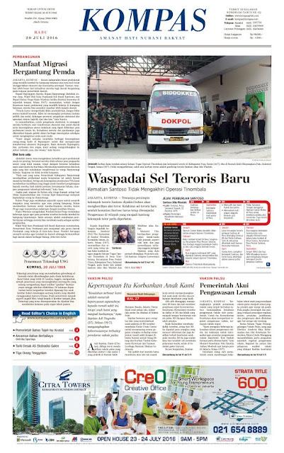 Kompas Edisi Rabu 20 Juli 2016