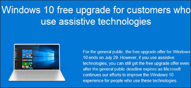 You can still get Windows 10 free upgrade