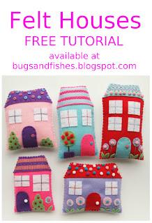 Felt houses sewing tutorial