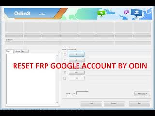 Remove Google Account Via Odin3 ازالة غوغل اكونت عبر