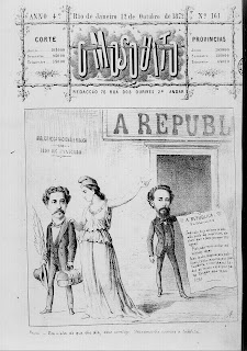 Agostini em O Mosquito no mesmo dia em que Faria publica cap. 14 Nhô-Quim em Vida Fluminense