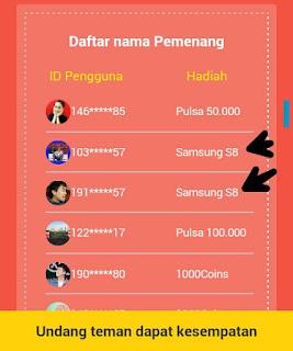 Daftar Pemenang Undian aplikasi Berita Saku