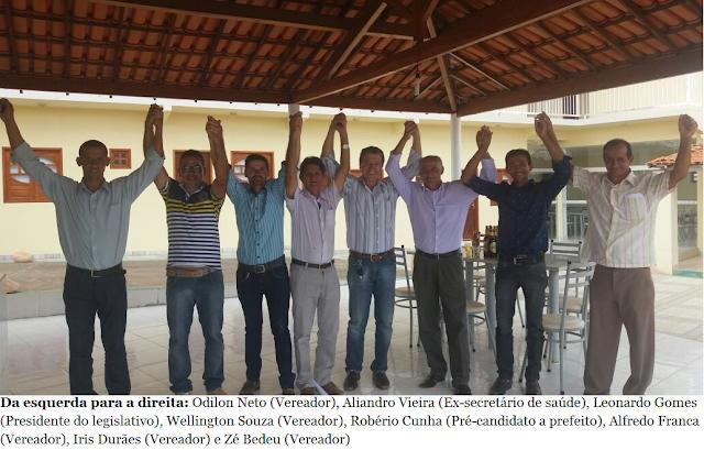 Aliança política confirma o nome de Robério Cunha como franco favorito para Prefeito de Gentio do Ouro nas eleições de 2016