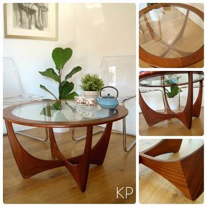 Mesa centro G-plan modelo astro años 70. tienda de muebles estilo danés en valencia.