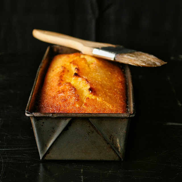 Loaf of marmalade cake.